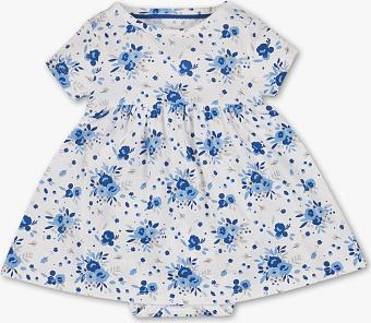 Sukienka dziewczęca Baby Club z bawełny w kwiatki