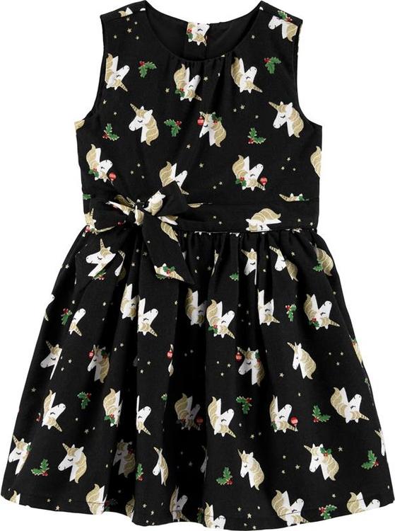Sukienka dziewczęca Carter's z bawełny
