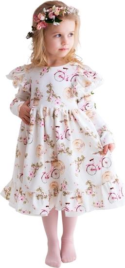 Sukienka dziewczęca Fajnieubieramy w kwiatki