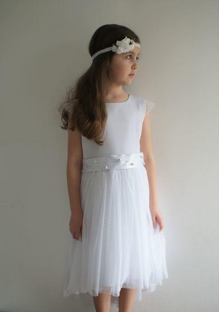 Sukienka dziewczęca LeMika z tkaniny w groszki