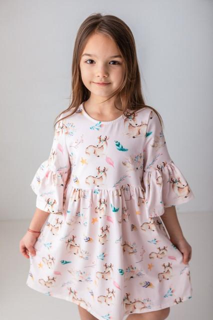 Sukienka dziewczęca Myprincess / Lily Grey w kwiatki z bawełny