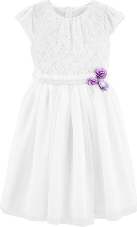 Sukienka dziewczęca OshKosh z bawełny w kwiatki