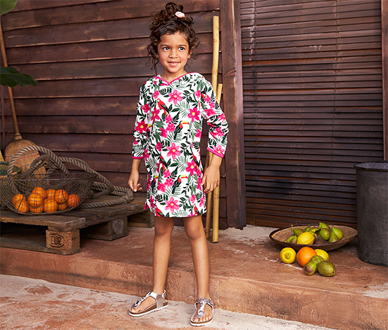 Sukienka dziewczęca Tchibo z bawełny