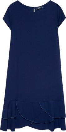 Sukienka ECHO z tkaniny z krótkim rękawem