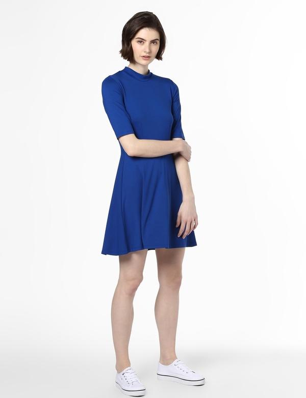 Sukienka EDITED z krótkim rękawem z okrągłym dekoltem mini