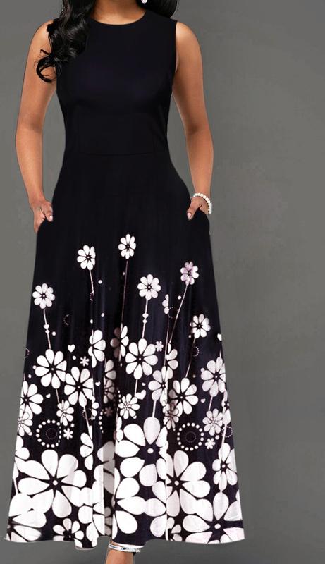 Sukienka Elegrina z bawełny bez rękawów