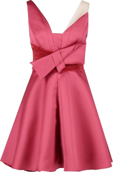 Sukienka Elisabetta Franchi bez rękawów z dekoltem w kształcie litery v rozkloszowana