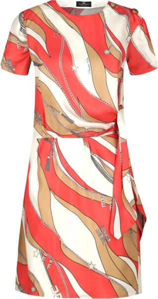 Sukienka Elisabetta Franchi mini z okrągłym dekoltem