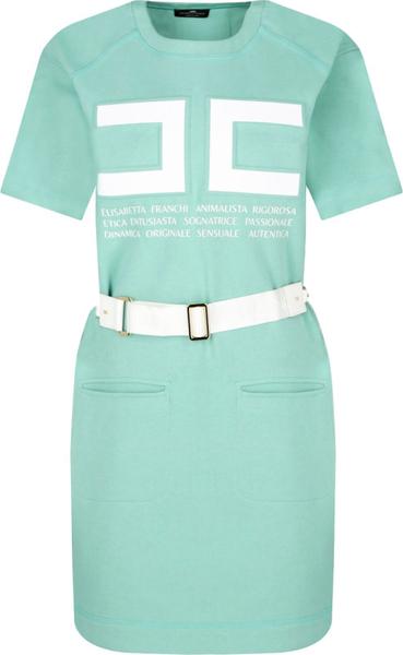 Sukienka Elisabetta Franchi prosta z krótkim rękawem mini