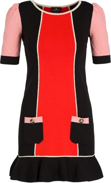 Sukienka Elisabetta Franchi trapezowa z krótkim rękawem mini