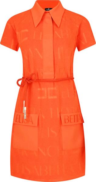 Sukienka Elisabetta Franchi z krótkim rękawem