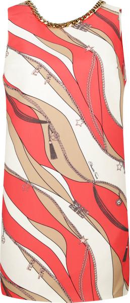Sukienka Elisabetta Franchi z okrągłym dekoltem prosta bez rękawów