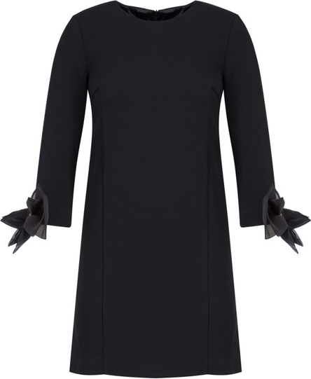 Sukienka Elisabetta Franchi z okrągłym dekoltem z długim rękawem