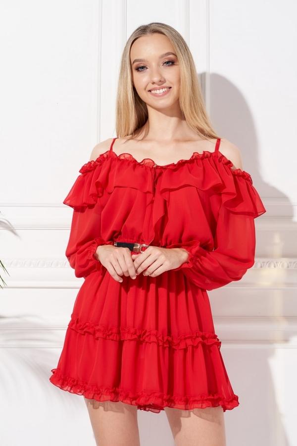 Sukienka Ella Boutique hiszpanka z długim rękawem