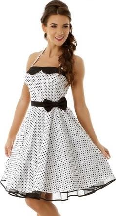 Sukienka Ella Dora bez rękawów midi w stylu retro