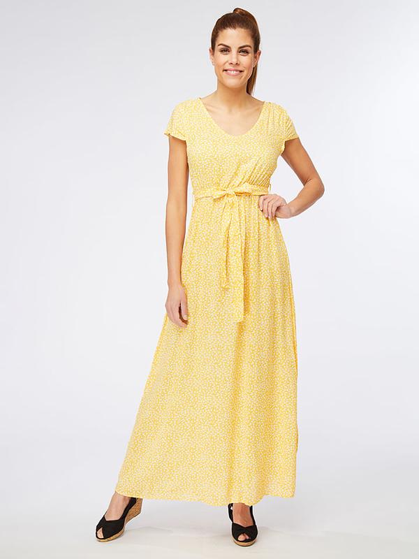 Sukienka Ella Paris maxi z dekoltem w kształcie litery v