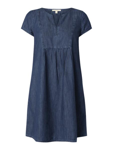 Sukienka Esprit z jeansu z krótkim rękawem