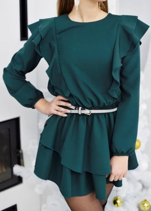 Sukienka Fason z długim rękawem rozkloszowana