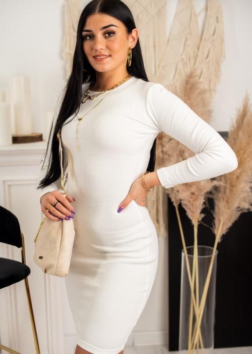 Sukienka Fason z okrągłym dekoltem w stylu casual mini