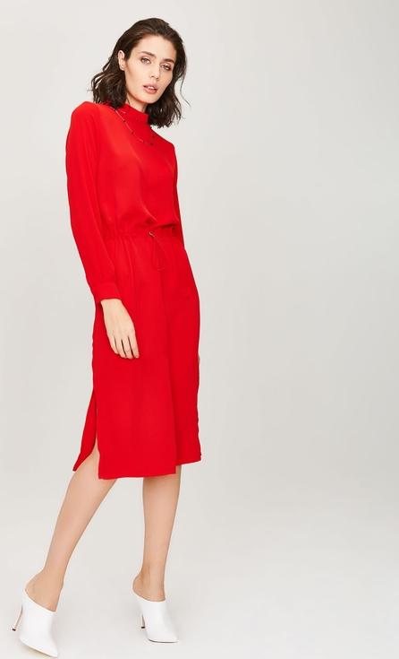 Sukienka FEMESTAGE Eva Minge z okrągłym dekoltem w stylu casual midi