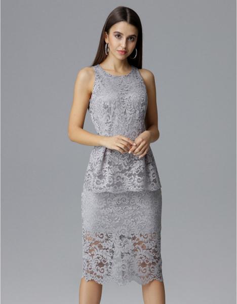 Sukienka Figl baskinka midi bez rękawów