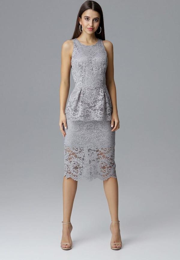Sukienka Figl baskinka z okrągłym dekoltem