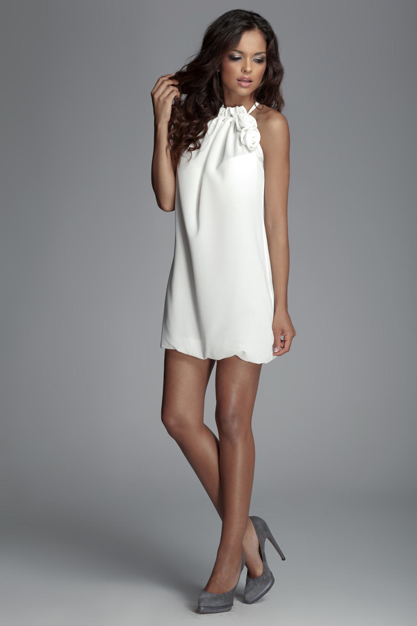 Sukienka Figl bez rękawów mini z dekoltem halter