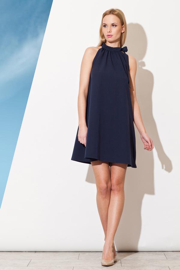 Sukienka Figl mini z dekoltem halter