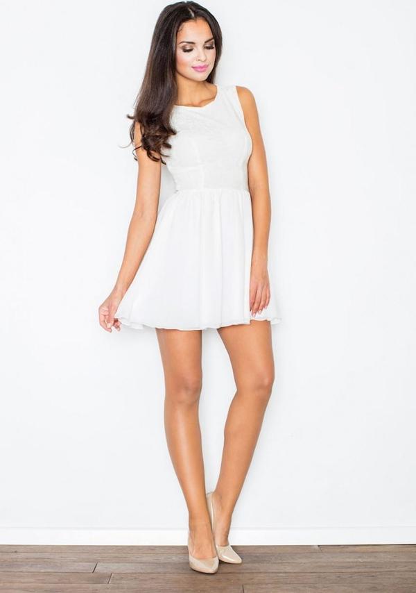 Sukienka Figl mini z okrągłym dekoltem bez rękawów