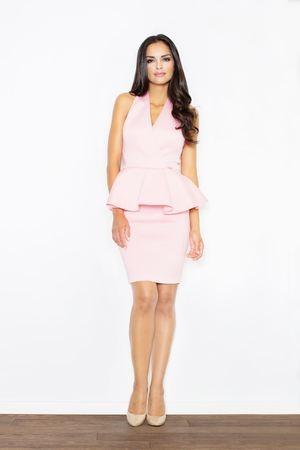Sukienka Figl ołówkowa bez rękawów z dekoltem w kształcie litery v