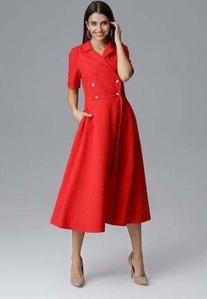 Sukienka Figl rozkloszowana z krótkim rękawem