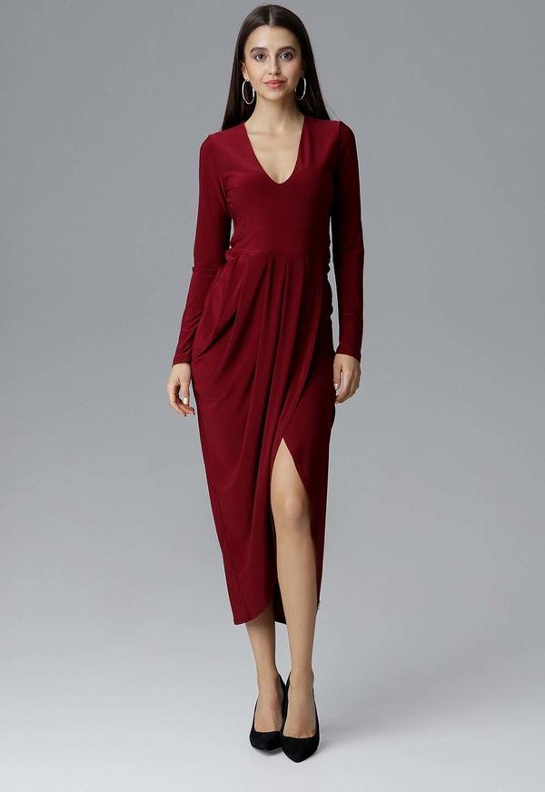 Sukienka Figl z długim rękawem asymetryczna
