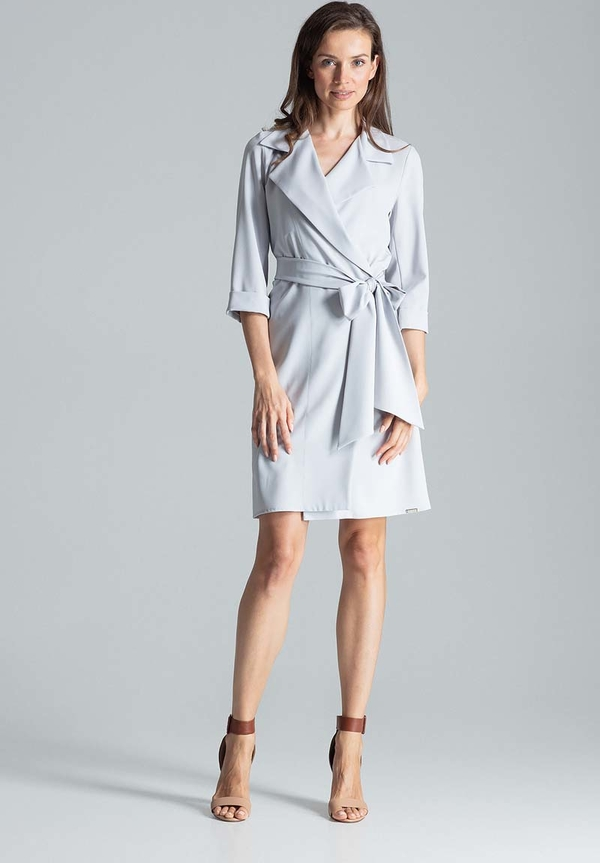 Sukienka Figl z długim rękawem z dekoltem w kształcie litery v mini