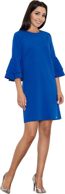 Sukienka Figl z długim rękawem z okrągłym dekoltem mini