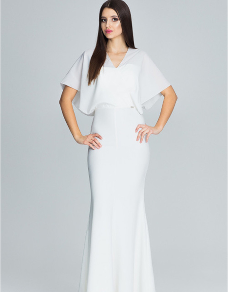 Sukienka Figl z krótkim rękawem z dekoltem w kształcie litery v