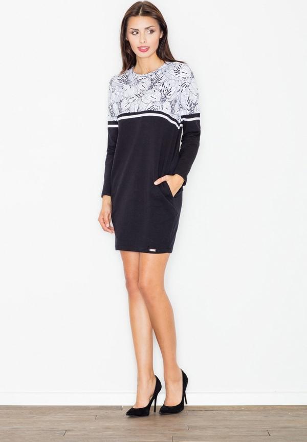 Sukienka Figl z okrągłym dekoltem prosta mini