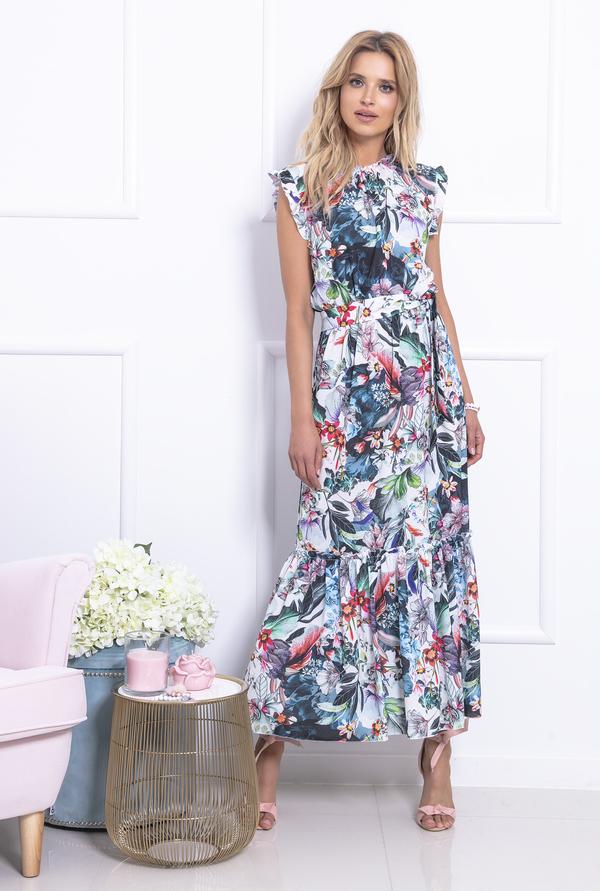Sukienka Fobya w stylu casual z okrągłym dekoltem