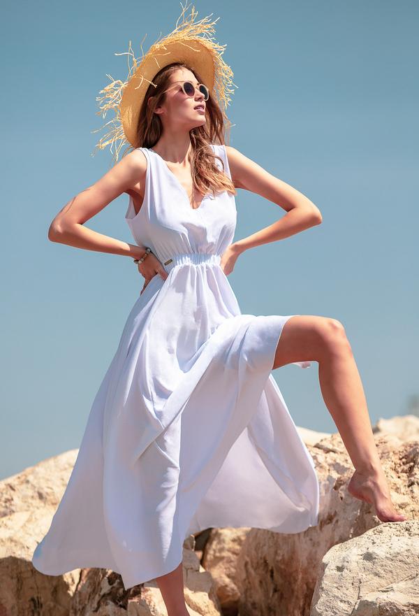 Sukienka Fobya z dekoltem w kształcie litery v