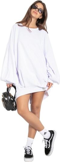 Sukienka Fobya z okrągłym dekoltem z długim rękawem mini