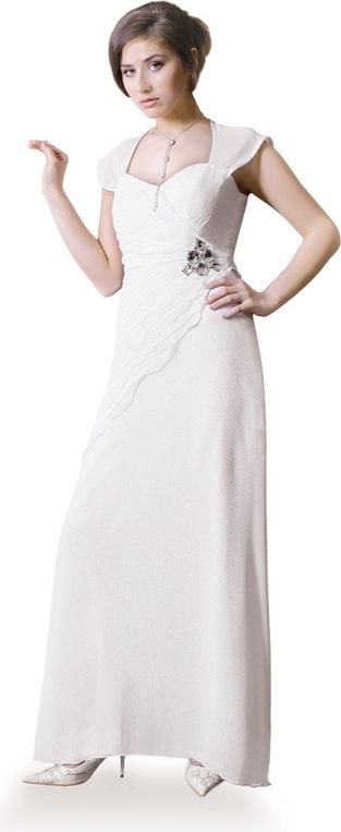 Sukienka Fokus asymetryczna maxi z dekoltem w karo
