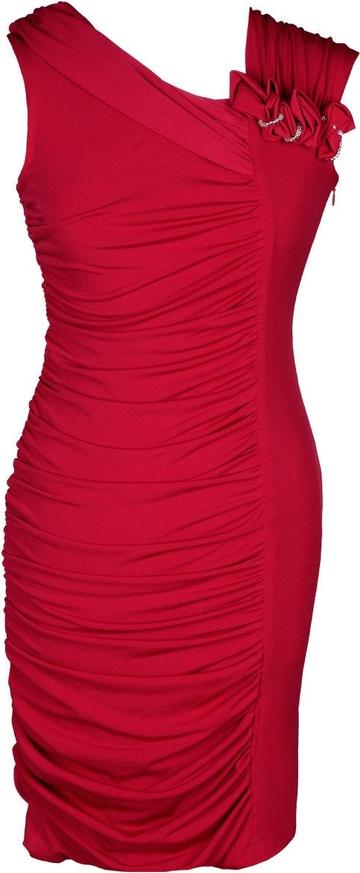 Sukienka Fokus asymetryczna midi bez rękawów