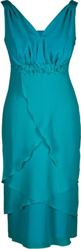 Sukienka Fokus asymetryczna w stylu glamour z dekoltem w kształcie litery v