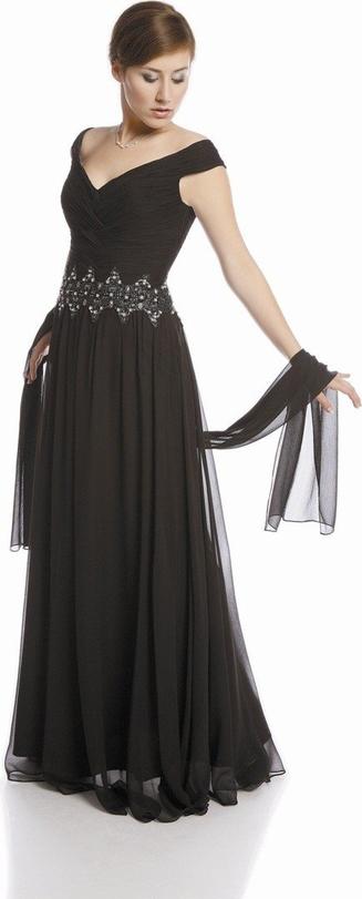 Sukienka Fokus bez rękawów maxi w stylu glamour