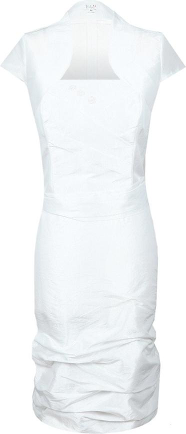 Sukienka Fokus dopasowana z krótkim rękawem