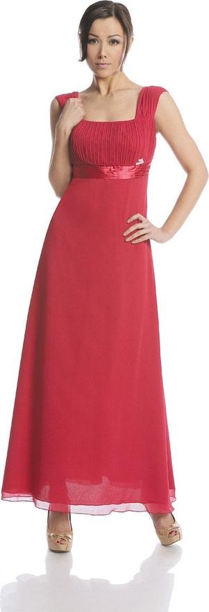Sukienka Fokus dopasowana z przeźroczystą kieszenią w stylu glamour