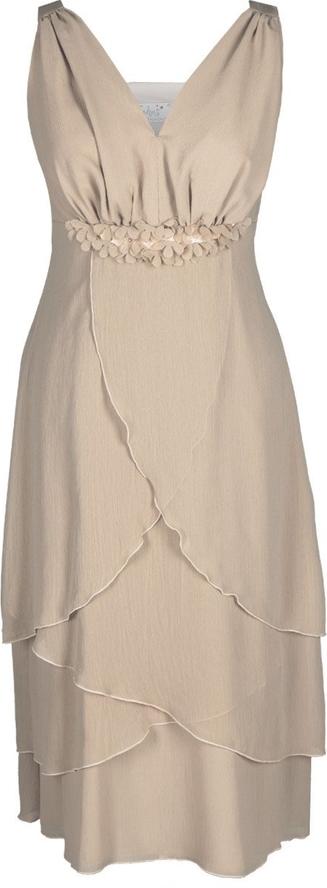 Sukienka Fokus kopertowa midi z dekoltem w kształcie litery v