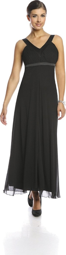 Sukienka Fokus maxi rozkloszowana z dekoltem w kształcie litery v