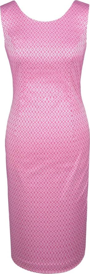 Sukienka Fokus midi bez rękawów ołówkowa