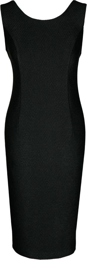 Sukienka Fokus midi w stylu klasycznym z żakardu