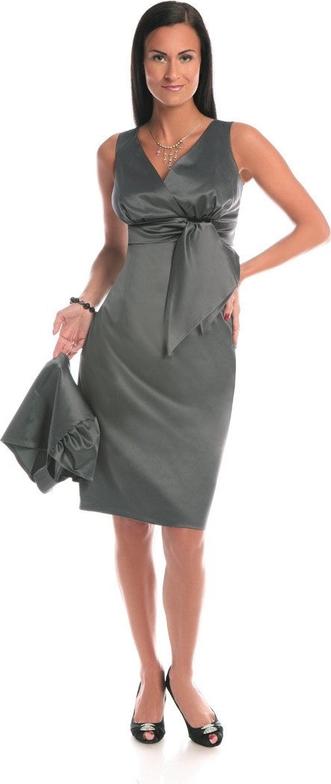 Sukienka Fokus midi z bawełny z dekoltem w kształcie litery v